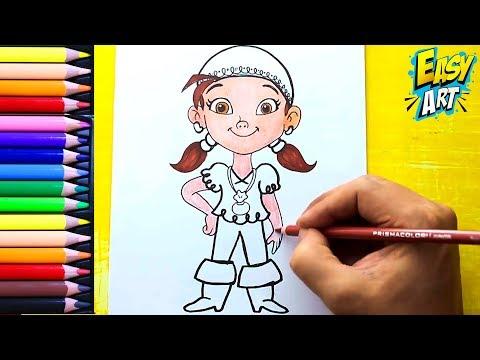 Como dibujar a Izzy de Disney Junior