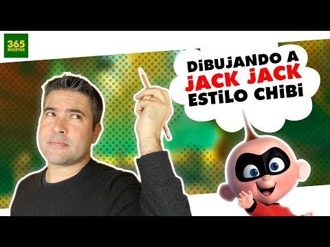 Como dibujar a Jack Jack de Los Íncreibles chibi
