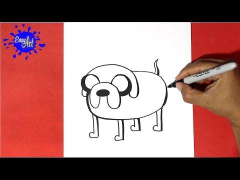 Como dibujar a Jake de Hora de Aventuras