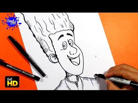 Como dibujar a Johnny de Hotel Transylvania