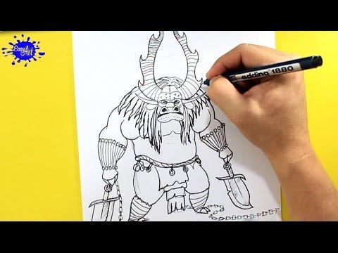 Como dibujar a Kai de Kung Fu Panda 3 paso a paso