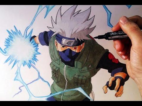 Como dibujar a Kakashi de Naruto
