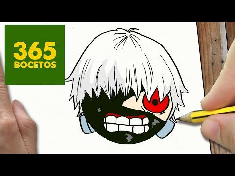 Como dibujar a Kaneki de Tokyo Ghoul