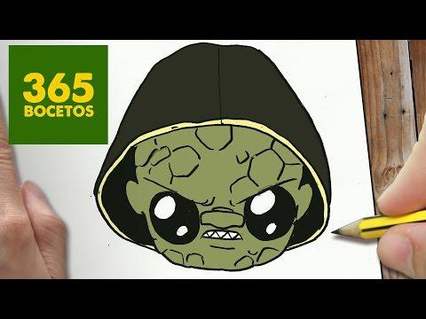 Como dibujar a Killer Croc de El Escuadrón Suicida kawaii
