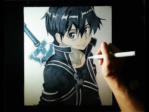 Como dibujar a Kirito de Sword Art Online