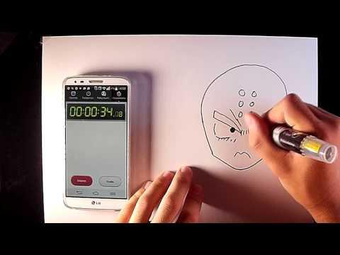 Como dibujar a Krilin en menos de 1 minuto