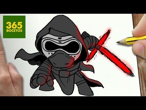 Como dibujar a Kylo Ren de Star Wars