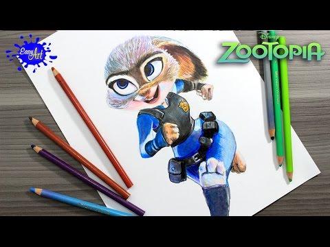 Como dibujar a la agente Judy Hopps de Zootrópolis fácil