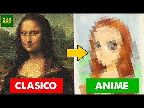 Como dibujar a la Mona Lisa estilo Anime