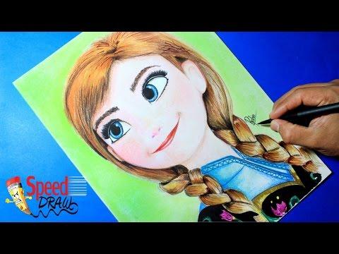 Como dibujar a la princesa Anna de Frozen