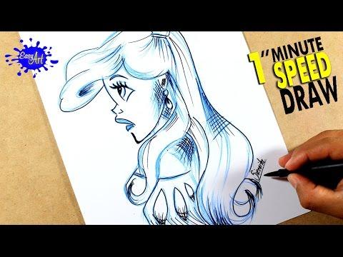 Como dibujar a la princesa Ariel de la Sirenita fácil