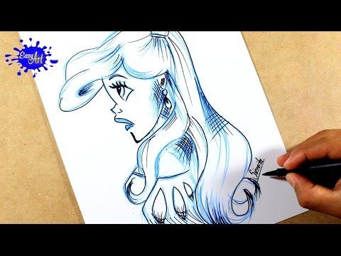 Como dibujar a la princesa Ariel de La Sirenita