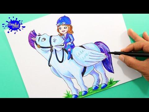 Como dibujar a la Princesa Sofía de Disney