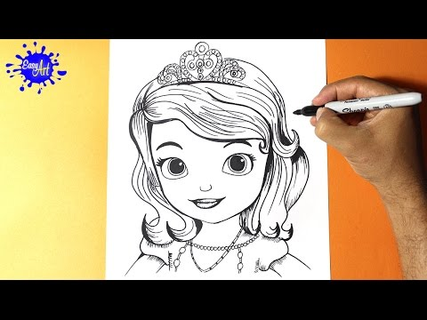 Cómo dibujar a la Princesa Sofía muy fácil