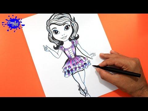 Como Dibujar A La Princesa Sofía Paso A Paso