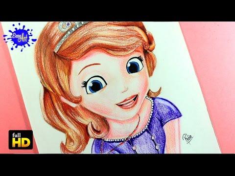 Como dibujar a la Princesa Sofía
