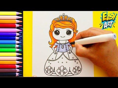 Como dibujar a la Princesita Sofía de Disney