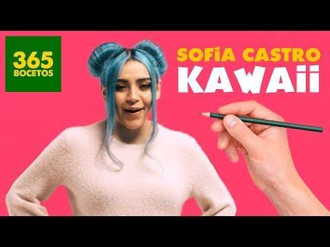 Como dibujar a la Youtuber Sofia Castro kawaii