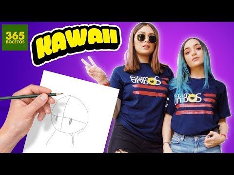 Como dibujar a las Youtubers Calle y Poché kawaii