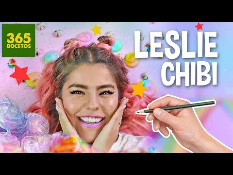 Como dibujar a Leslie de Los Polinesios chibi