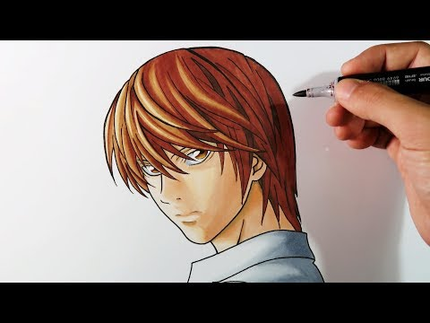 Como dibujar a Light Yagami de Death Note