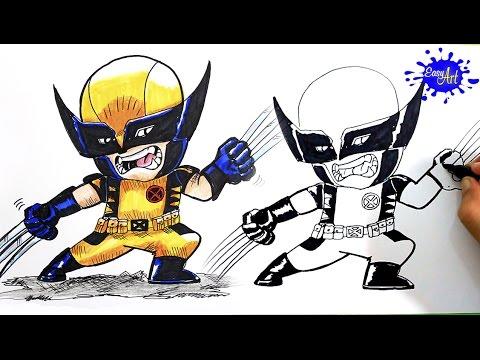 Como dibujar a Lobezno de X-Men