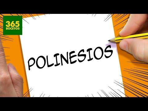 Como dibujar a los Polinesios a partir de sus letras