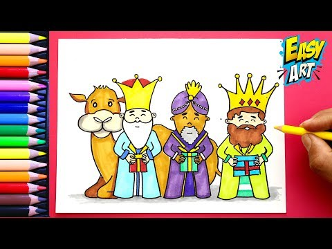Como Dibujar A Los Reyes Magos Para Navidad