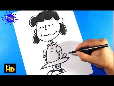 Como dibujar a Lucy de Snoopy