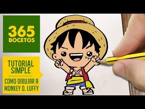 Como dibujar a Luffy de One Peace