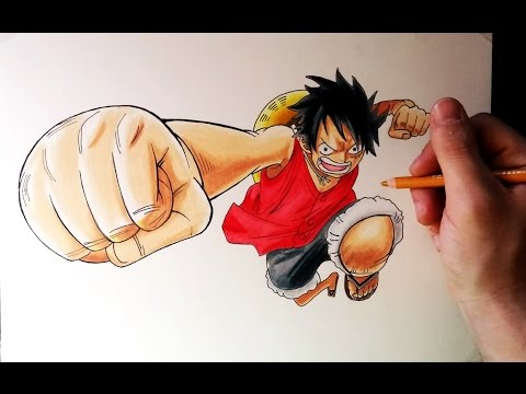 Como dibujar a Luffy de One Piece