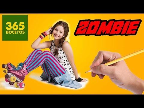 Como dibujar a Luna de Soy Luna Zombie