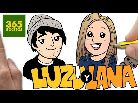 Como dibujar a Luzu y Lana kawaii