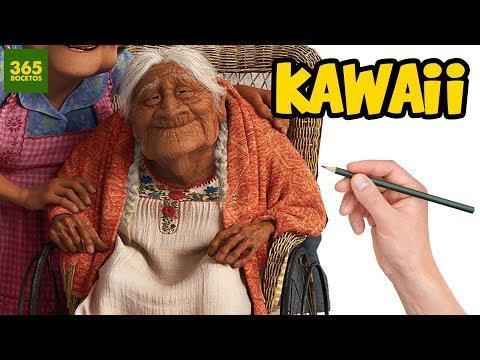 Como dibujar a Mamá Coco kawaii