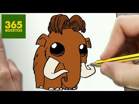 Como dibujar a Manny de Ice Age