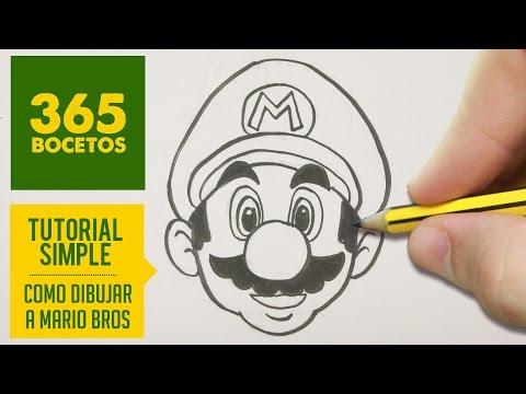 Como dibujar a Mario Bros fácil paso a paso