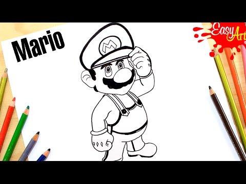 Como Dibujar A Mario Bros Fácil