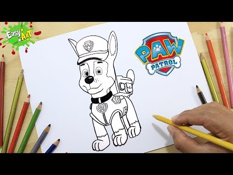 Como dibujar a Marshall de la Patrulla Canina fácil