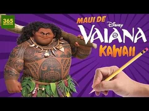 Como dibujar a Maui de Vaiana