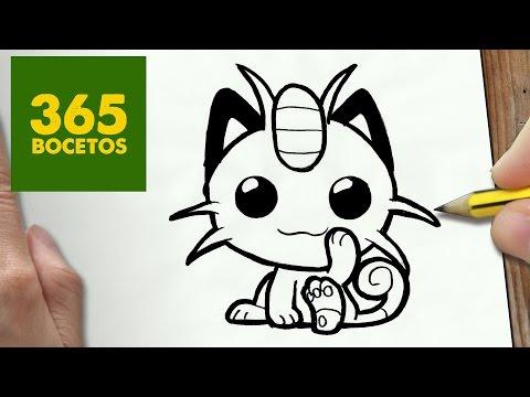 Como dibujar a Meowth