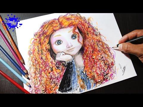Como dibujar a Mérida de Disney
