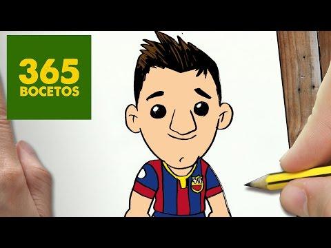 Como dibujar a Messi kawaii