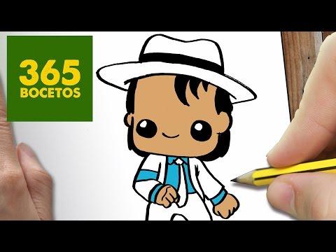 Como dibujar a Michael Jackson kawaii