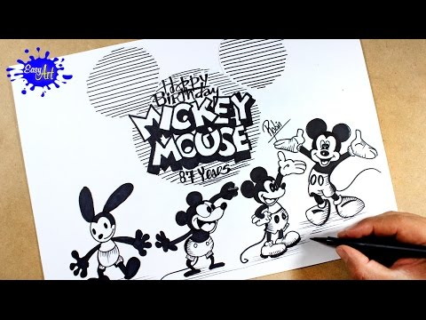 Como dibujar a Mickey Mouse de Walt Disney
