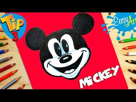 Como dibujar a Mickey Mouse