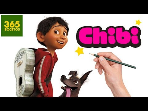 Como dibujar a Miguel de Coco estilo Chibi