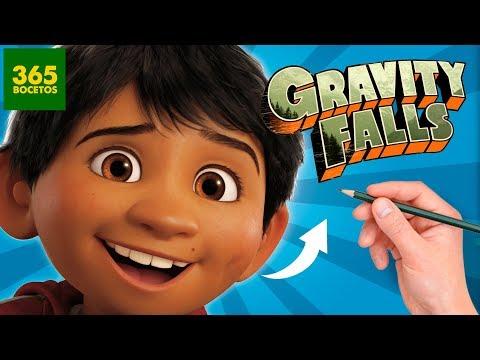 Como dibujar a Miguel de Coco estilo Gravity Falls