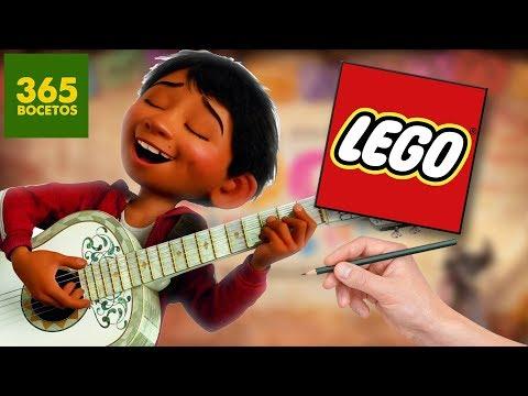 Como dibujar a Miguel de Coco estilo LEGO