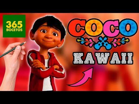 Como dibujar a Miguel de Coco kawaii