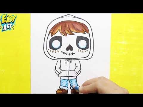 Como dibujar a Miguel de Coco
